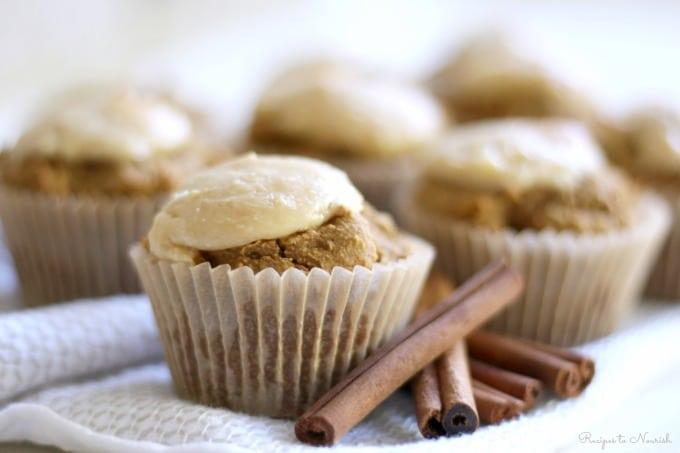 Grain Free Pumpkin Cheesecake Muffins | Recipes to Nourish