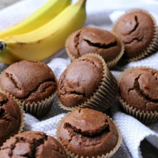 Grain Free Chocolate Banana Muffins