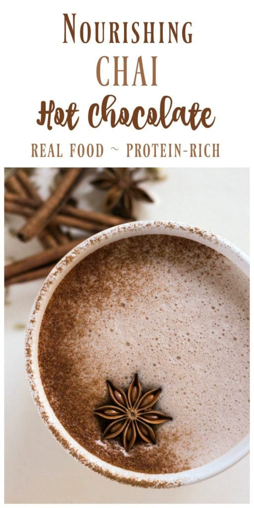Chai Hot Chocolate is the perfect warming drink on a cold day. This ...