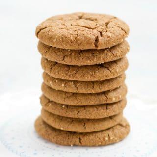 Grain Free Ginger Molasses Cookies