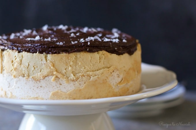 Cheesecake with sea salted chocolate ganache