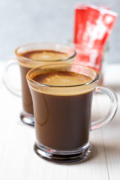 (Ad) Healthy Butter Coffee is so easy to make! Full of healthy fats like grass-fed butter and organic coconut oil, this no sugar, real food, delicious drink will help you burn fat and stay focused. The best part is you can take and make this butter coffee anywhere! | Recipes to Nourish