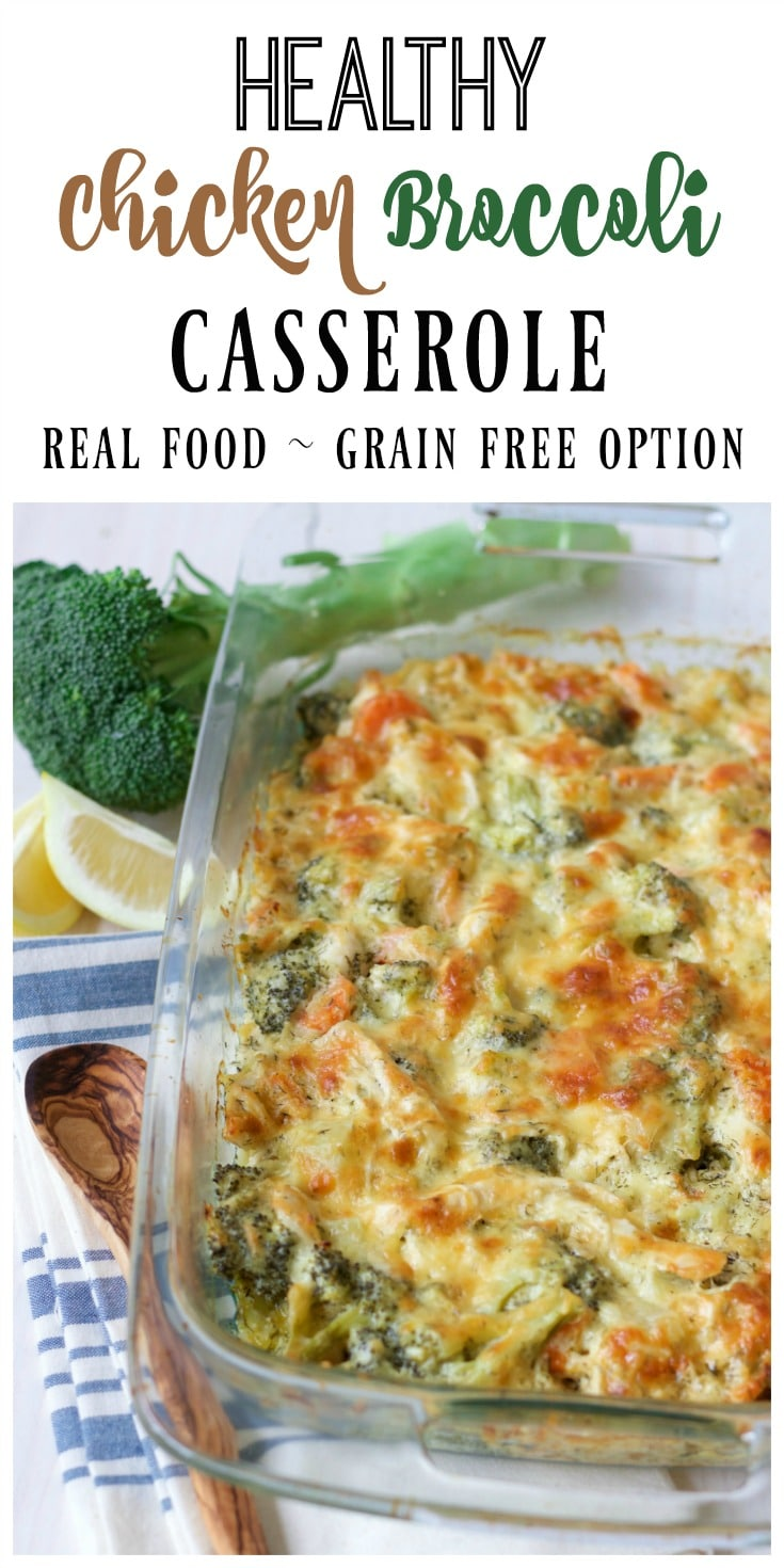 (Ad) This Healthy Chicken Broccoli Casserole is a delicious comforting classic. It's so easy to make, packed with protein, loaded with broccoli and full of vibrant herby aromatics. It has a special real food secret ingredient too and bakes up beautifully in less than an hour. | Recipes to Nourish // Grain Free | Gluten Free | Comfort Food