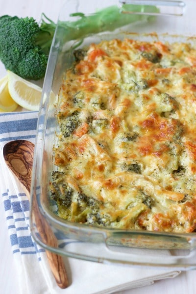 healthy chicken broccoli casserole grain free option