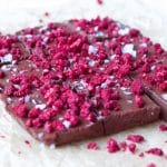 Easy Raspberry Chocolate Freezer Fudge