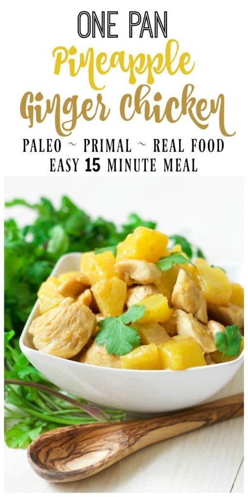Pineapple chicken with fresh cilantro.