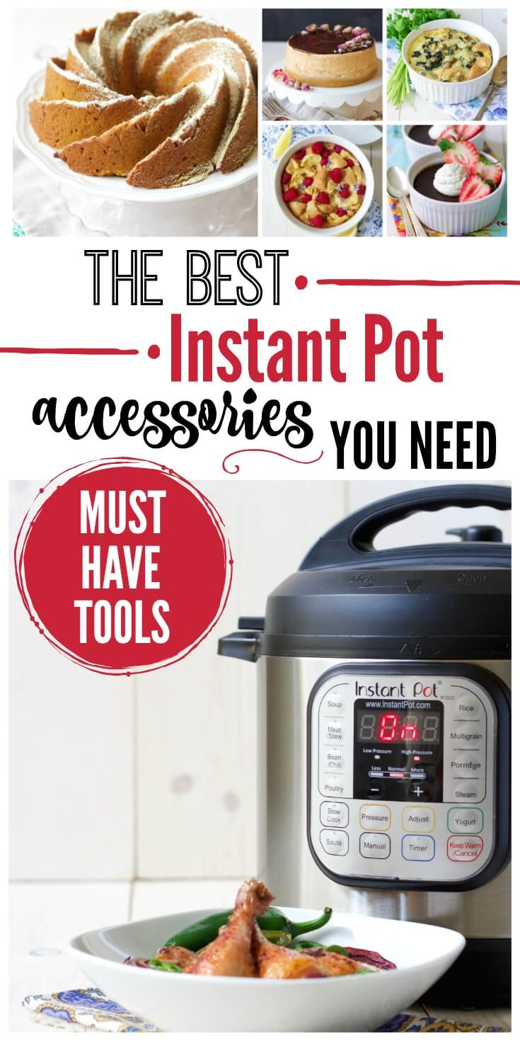 Wondering what Instant Pot accessories are a must for this amazing kitchen tool? I've got you covered with the best Instant Pot accessories! | Recipes to Nourish // Instant Pot Recipes | Healthy Instant Pot Recipes | Instant Pot Tools | Pressure Cooker Accessories | Gluten Free Recipes | Paleo Recipes | Instant Pot Recipes | Pressure Cooker