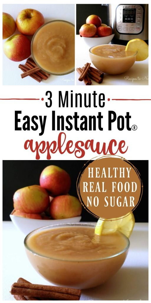 3 Minute Instant Pot Applesauce! If you love applesauce, you've got to try this method. It's absolutely delicious and comes out perfect every time. | Recipes to Nourish