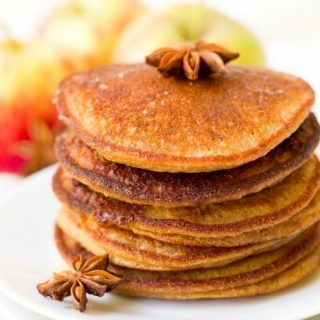 Stack of pumpkin pancakes.