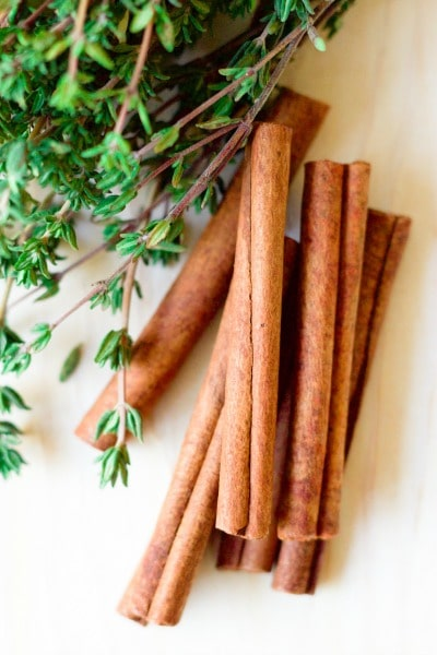 Immune Boosting Cinnamon Thyme Tea is a delicious, flavorful, natural remedy that helps support the immune system, soothes sore throats and so much more. | Recipes to Nourish