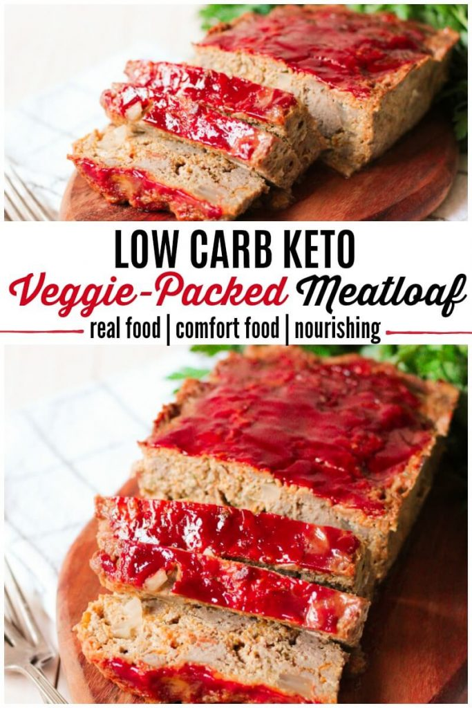 Meatloaf with 3 slices cut.