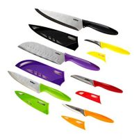 ZYLISS 6 Piece Kitchen Knife Set with Sheath Covers, Stainless Steel