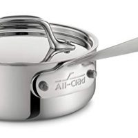 All-Clad Stainless Steel Tri-Ply Bonded Dishwasher Safe Sauce Pan with Lid, 1-Quart