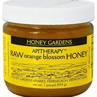 Apitherapy Raw Honey-Orange Blossom Honey Gardens 1 lb Glass Jar