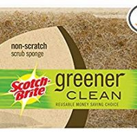 Scotch-Brite Greener Clean Natural Fiber Non-Scratch Scrub Sponge, Made from 100% Plant-Based Fibers, 12-Sponges