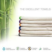 100% Bamboo Kitchen Dish Cloths (6 Pack) White Washcloths Dish Towels, Cleaning Cloths, Dish Rags, Ultra Absorbent Better Than Cotton