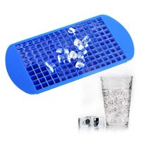 TraderPlus 160 Mini Cubes Silicone Frozen Ice Cube Tray Candy Chocolate Jelly Mold