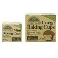 If You Care Unbleached Large Baking Cups - 60 ct & Mini Baking Cups - 90 ct Bundle