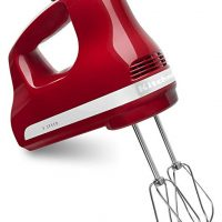 KitchenAid KHM512ER 5-Speed Ultra Power Hand Mixer, Empire Red