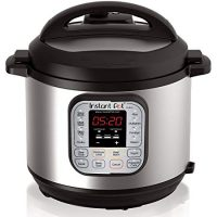 Instant Pot IP-DUO60 7-in-1 Programmable Pressure Cooker, 6qt/1000W, Latest 3rd Generation Technology, Stainless Steel Cooking Pot and Exterior