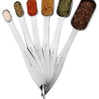 Spring Chef Heavy Duty Stainless Steel Metal Measuring Spoons for Dry or Liquid, Set of 6