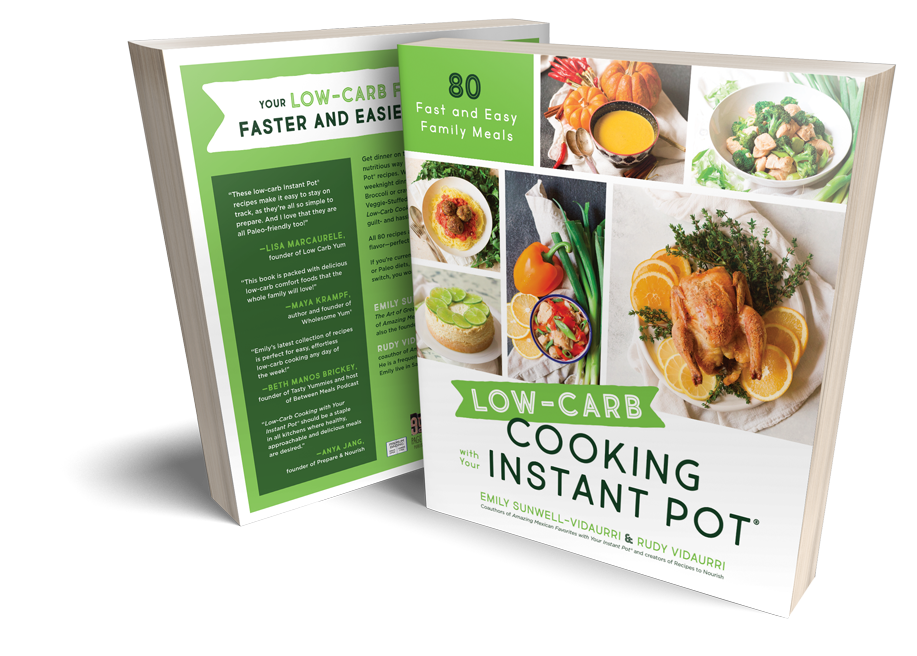 Low-Carb Cooking with Your Instant Pot cookbook cover