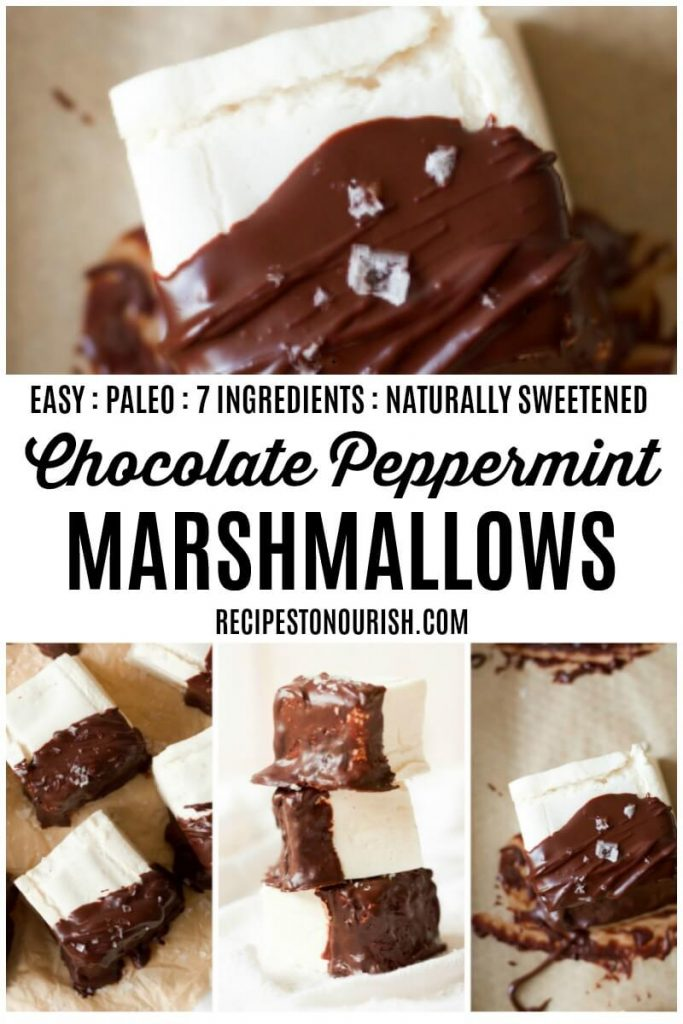 Chocolate dipped homemade marshmallows.